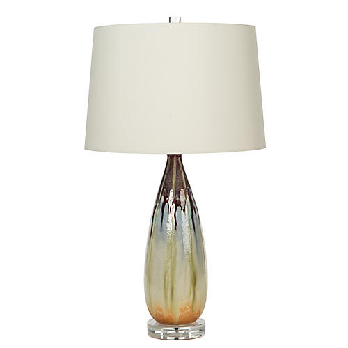 Quinn Drip Table Lamp, Multi