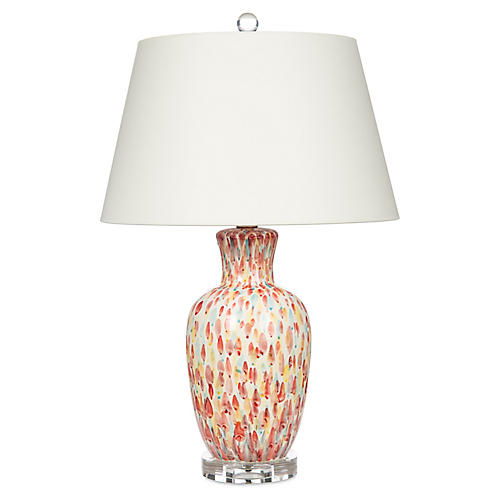 Pink Petals Table Lamp, Multi