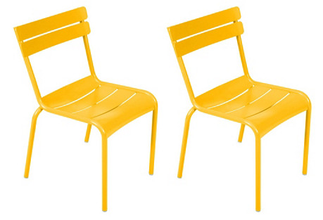 Yellow Luxembourg Side Chairs, Set of 4