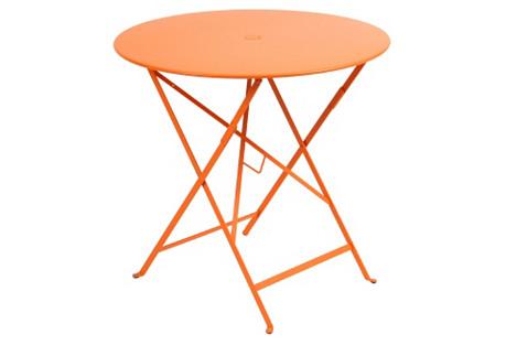 Round Bistro Table, Orange
