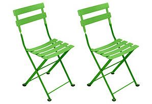 Grass Tom Pouce Kids Chairs, Pair