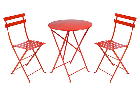 Poppy-Red Bistro Set