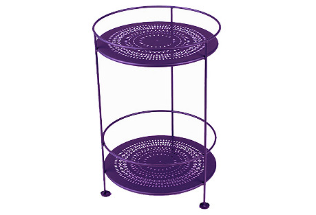 Picadilly Bar Cart, Aubergine