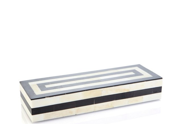 Long Striped Bone & Horn Box