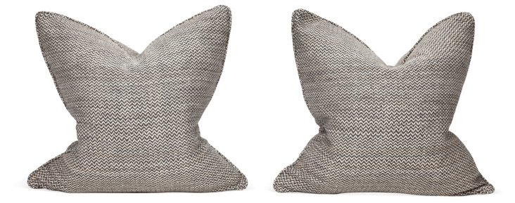 Zigzag Pillows, Pair