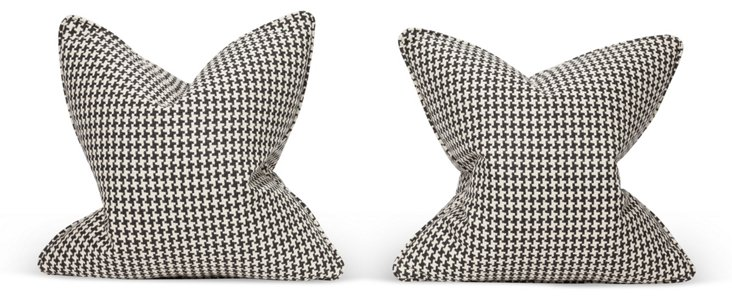 Houndstooth Pillows, Pair