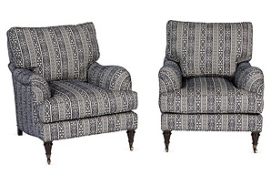 Barclay Butera Somerset Chairs, Pair