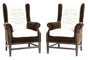 Barclay Butera Home Grant Armchairs, S/2