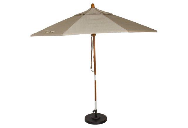 Dupione Umbrella, Dove (w/o Stand)