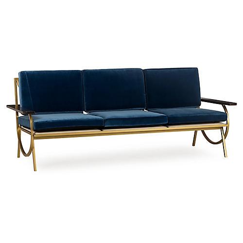 Vana Sofa, Blue Velvet