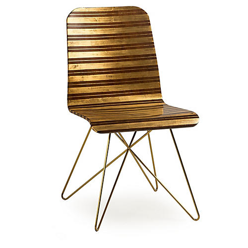 Starburst Side Chair, Gold