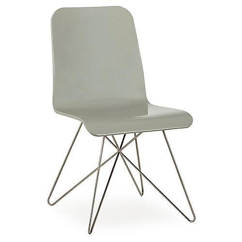 Starburst Side Chair, Silver