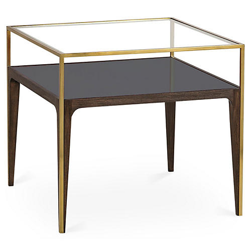 Rubylite Side Table, Smoke Gray