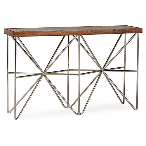 Starburst Console, Polished Nickel