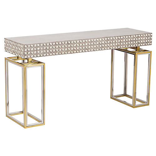 Cowrie Console, Gold/Silver