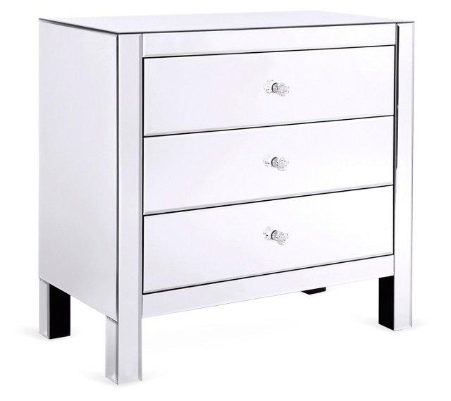 Beverly Mirrored Dresser, Silver