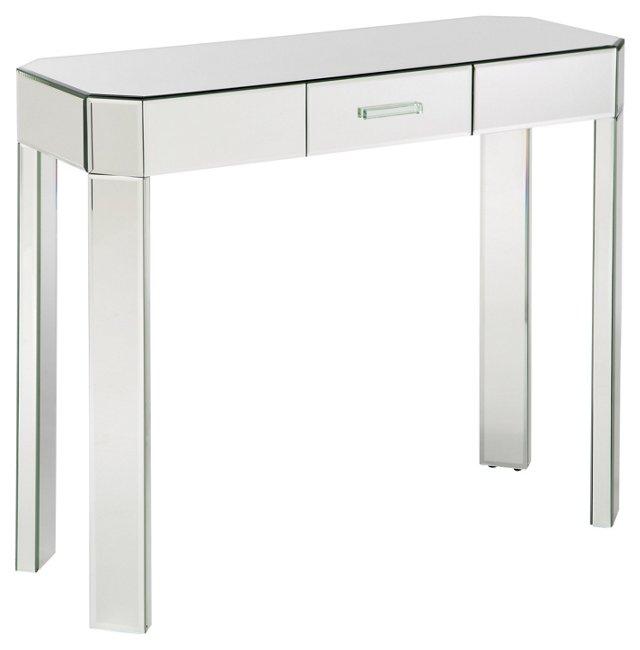 Jenni Mirrored Console, Silver
