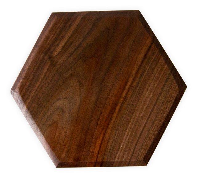 Walnut Hexagon Serving Board, Small
