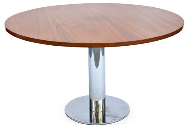 Wood & Chrome Table