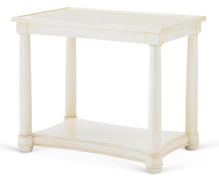 "Hamilton 36"" Side Table, Ivory"