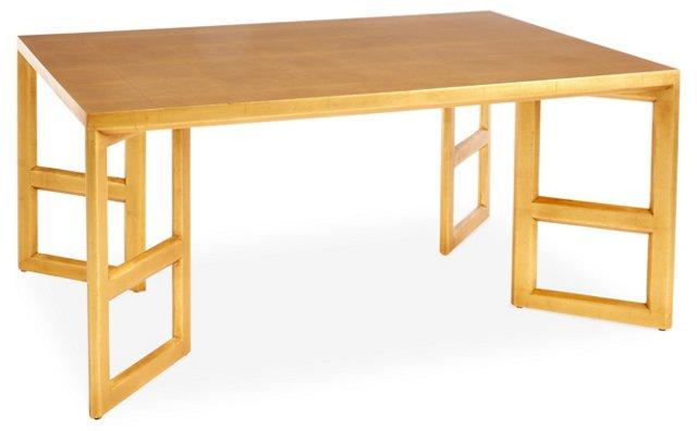 "Gilt 42"" Coffee Table, Gold"