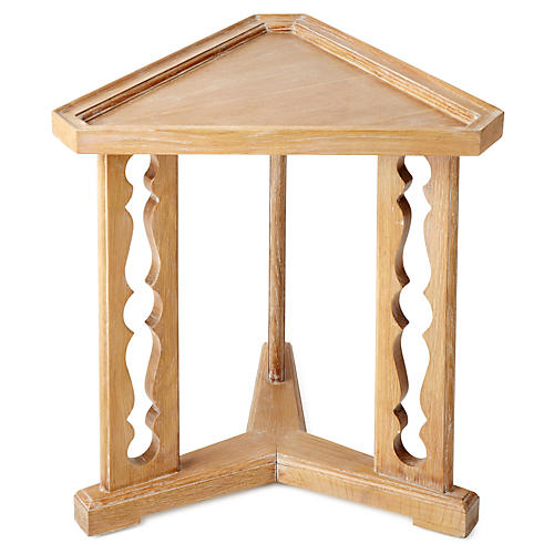 "Porter 20"" Triangular Side Table, Oak"