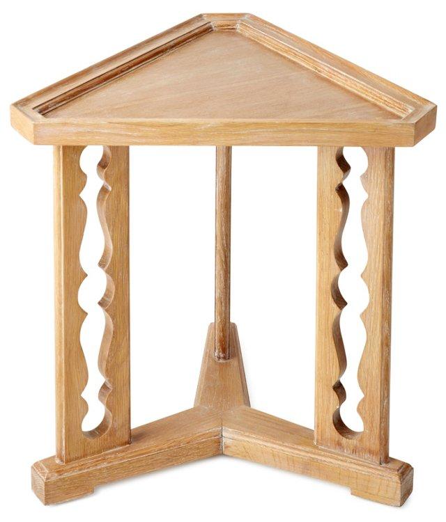 "Porter 20"" Triangular Side Table, Oak"