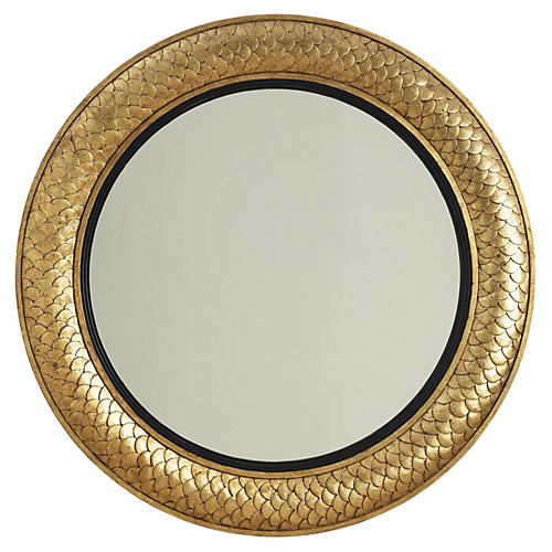 "Round 40"" Regency Mirror, Gold"