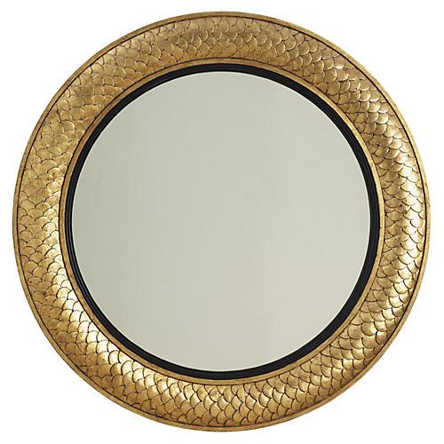 """Round 40"""" Regency Mirror, Gold"""