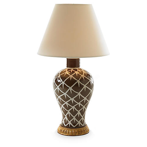 Chicken Feather Table Lamp, Brown