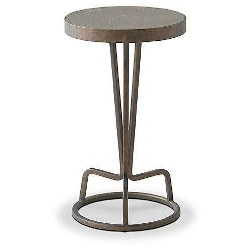 Bottoms Up Side Table, Pewter