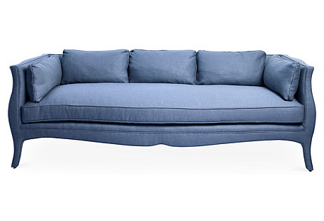 Southern Belle Sofa, Cornflower Blue