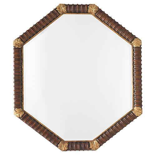 """Acanthus 50""""x60"""" Mirror, Mahogany"""