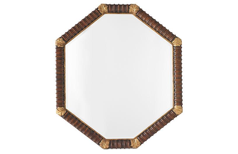 Acanthus Oversized Wall Mirror, Mahogany