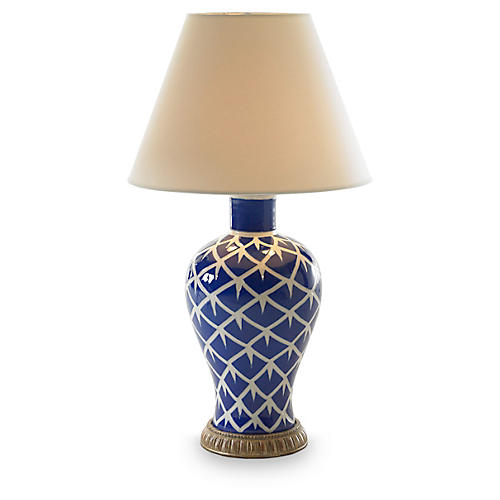 Chicken Feather Table Lamp, Blue