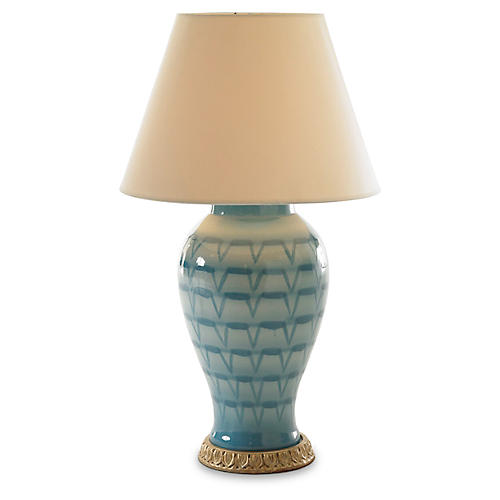 Ceramic Table Lamp, Turquoise