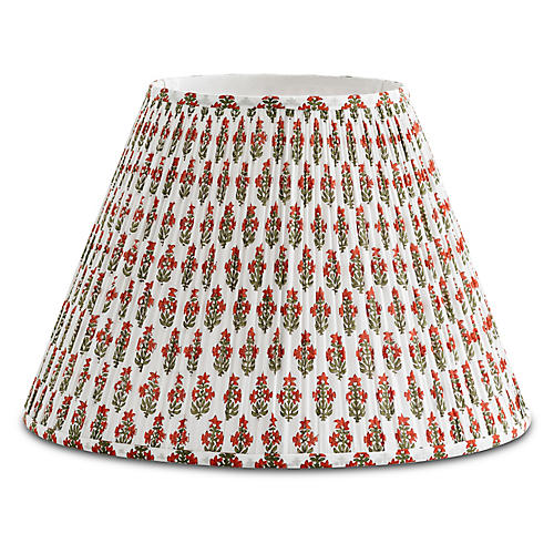Prickly Poppycape Lampshade, Red/Green
