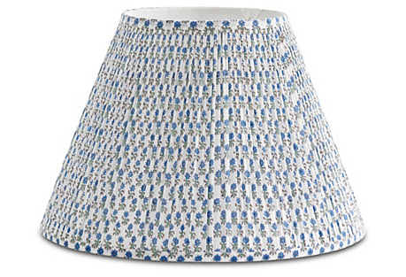 Spring Starflower Lampshade, Blue/White