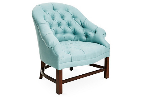 T42 Chair, Blue Linen