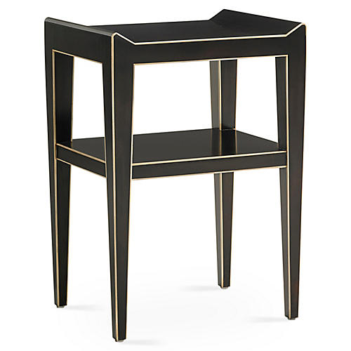 Adele Side Table, Ebony