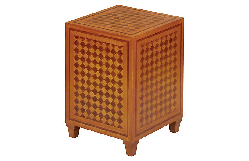 Carel Side Table, Mahogany