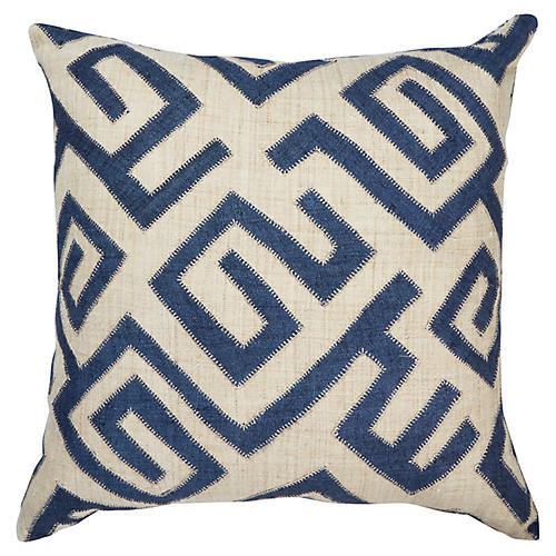 Bambala 22x22 Pillow, Indigo