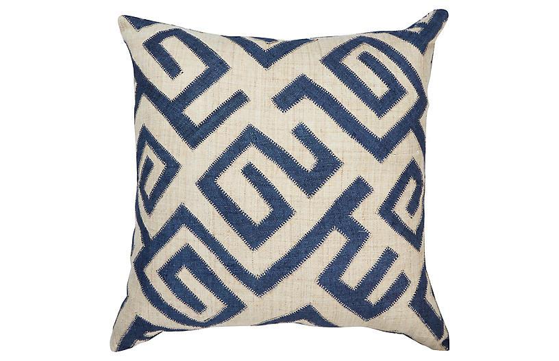 Bambala 22x22 Pillow, Indigo