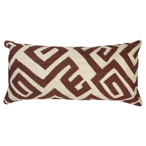 Bambala 13x26 Lumbar Pillow, Brown/Cream
