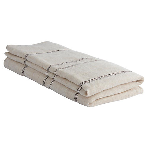 Desarae Hemp Throw, Natural