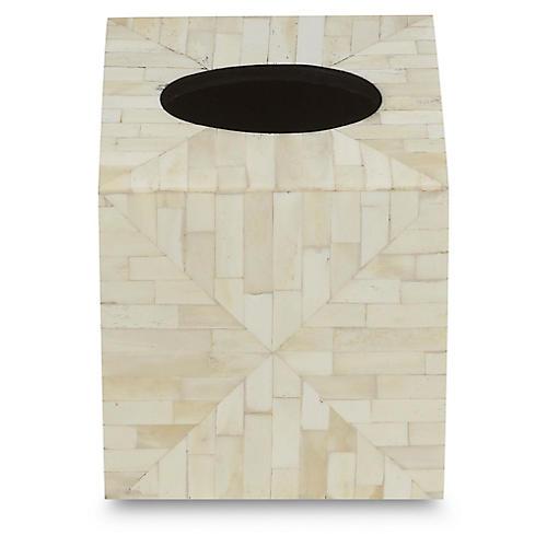 Amala Tissue Box Cover, Tan