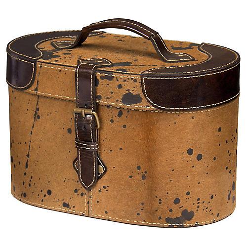 """11"""" Raina Buffalo Box, Tan/Brown"""