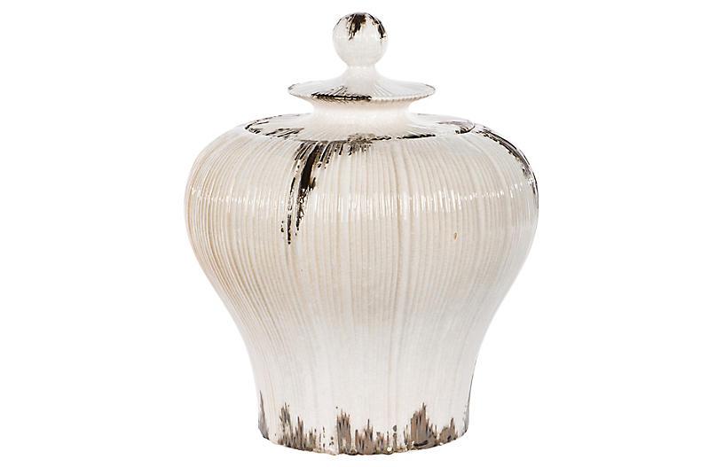 Colony Jar, Cream/Bronze