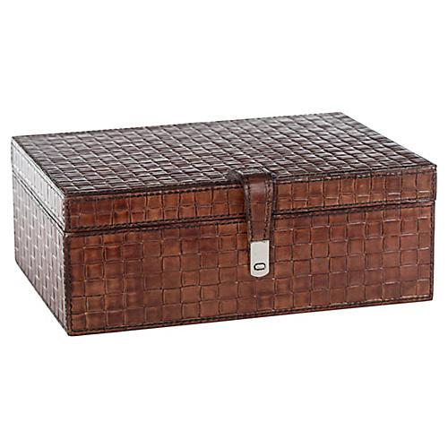 "11"" Basketweave Box, Tan"