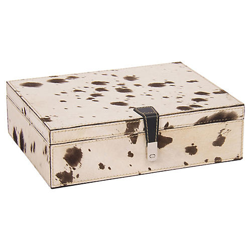 Palomino-Hide Box, Cream/Brown